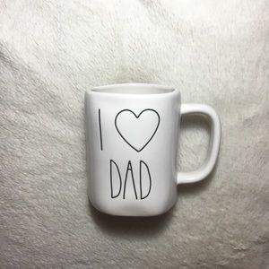 Rae Dunn I LOVE DAD Ceramic Mug NWT New